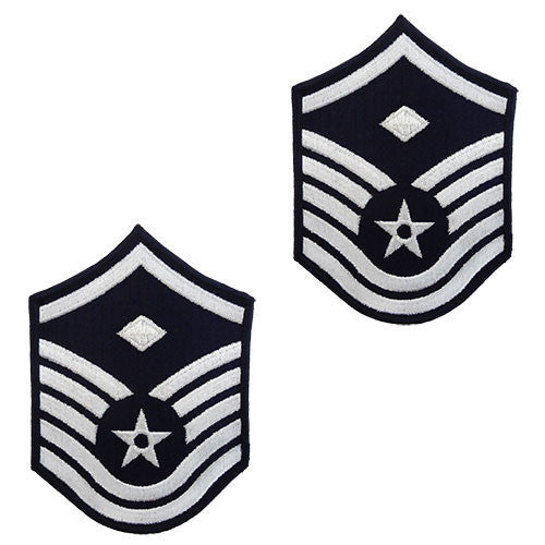 Air Force Embroidered Chevron: Master Sergeant: 1st Sgt - small color