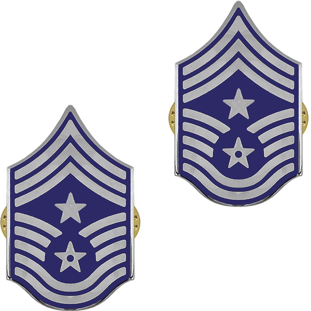 Air Force Chevron: Command Chief Master Sergeant - enameled metal