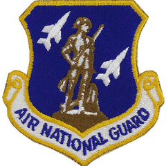 Air Force Patch: Air National Guard - color with Hook closure