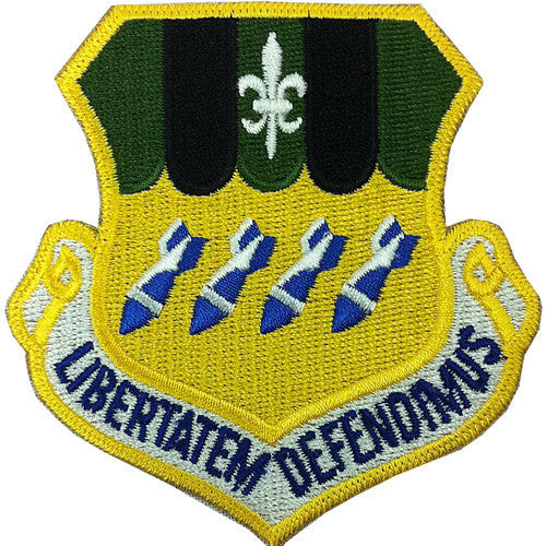 Air Force Patch: Second Bomb Wing - color with hook closure