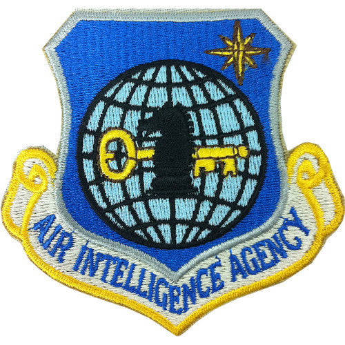 Air Force Patch: Air Intelligence Agency - color with hook closure