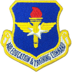Air Force Patch: Air Education and Training Command - color hook closure