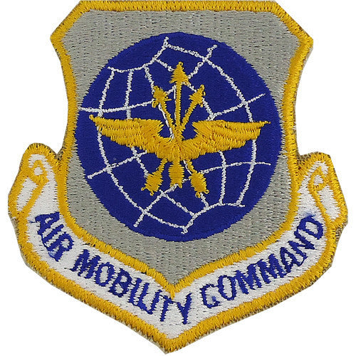 Air Force Patch: Air Mobility Command - color with hook closure