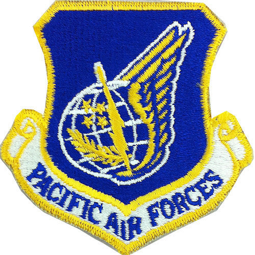 Air Force Patch: Pacific Air Forces - color with hook closure