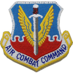 Air Force Patch: Air Combat Command - color with hook closure