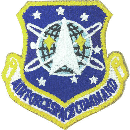 Air Force Patch: Air Force Space Command - color with hook closure.