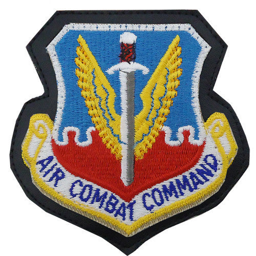 Air Force Patch: Air Combat Command - leather with hook closure