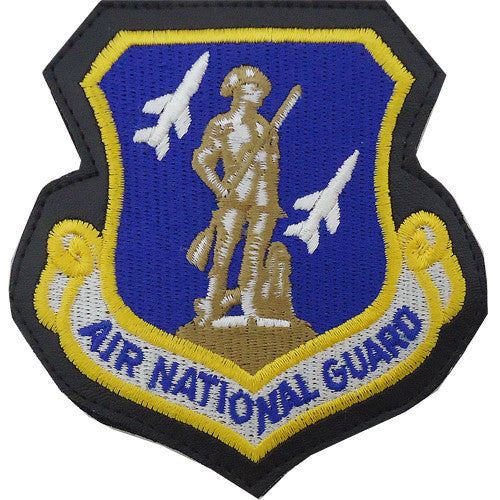 Air Force Patch: Air National Guard - leather with hook closure