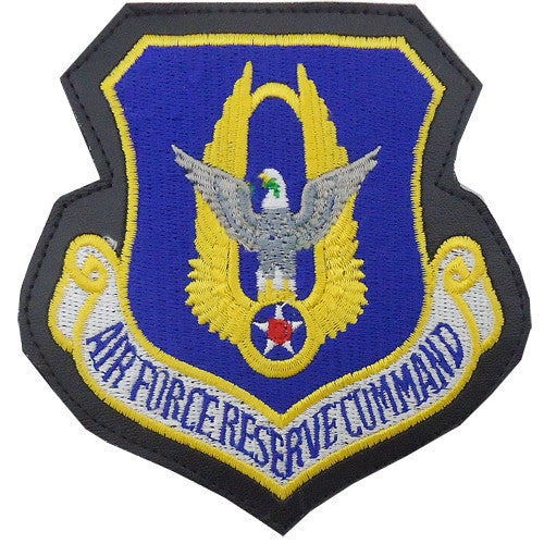 Air Force Patch: Reserve Command - leather with hook closure