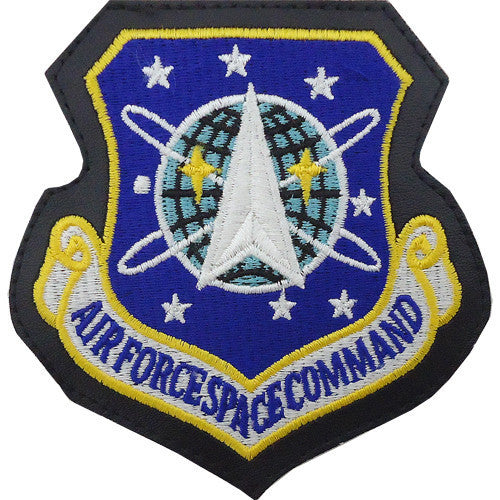 Air Force Patch: Air Force Space Command - leather with hook closure