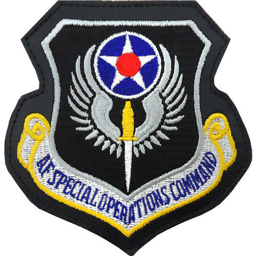 Air Force Patch: Air Force Special Operations - leather with hook closure