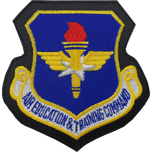Air Force Patch: Air Education and Training Command - leather hook closure