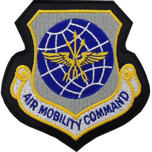 Air Force Patch: Air Mobility Command - leather with hook closure