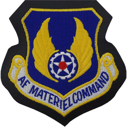Air Force Patch: Air Force Materiel Command - leather with hook closure