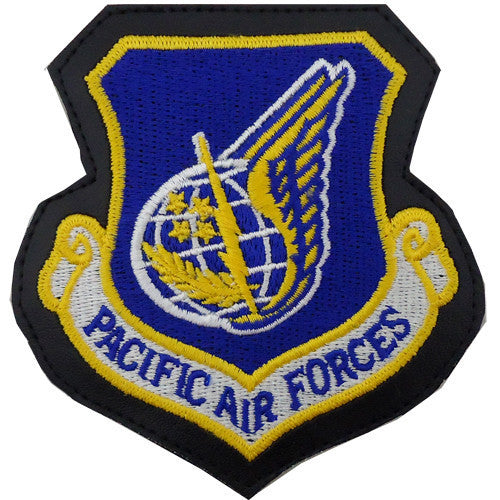 Air Force Patch: Pacific Air Forces - leather with hook closure
