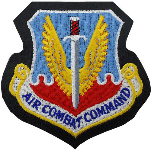 Air Force Patch: Air Combat Command - leather