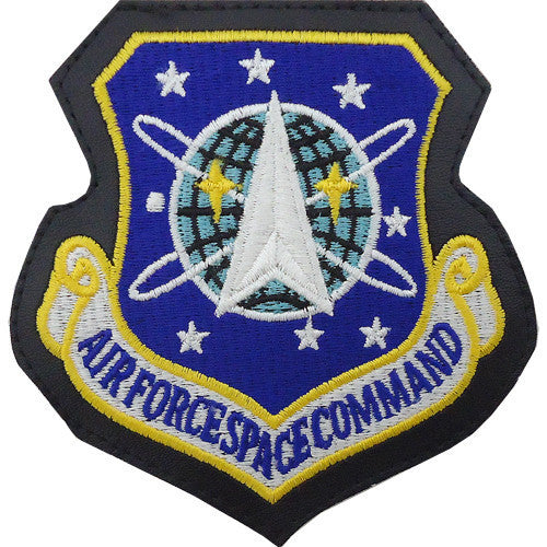 Air Force Patch: Air Force Space Command - leather