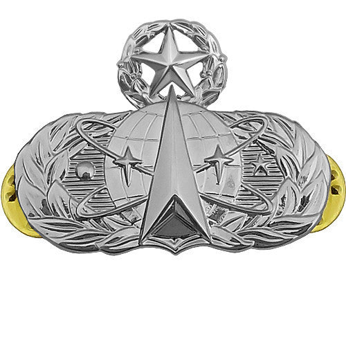 Air Force Badge: Space Operations: Master - midsize