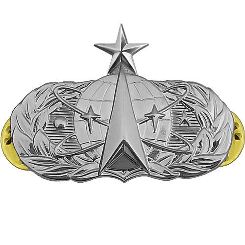 Air Force Badge: Space Operations: Senior - midsize