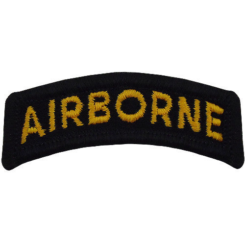 Army Embroidered Tab: Airborne - gold letters on black