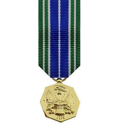 Miniature Medal- 24k Gold Plated: Army Achievement