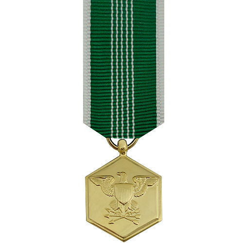Miniature Medal- 24k Gold Plated: Army Commendation