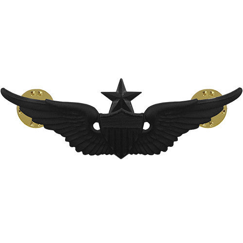 Army Badge: Senior Aviator - regulation size, black metal
