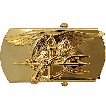 Navy Belt Buckle: Special Warfare Officer and Chief Petty Officer
