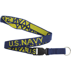 Navy Key Lanyard - blue with U.S. Navy in gold letters