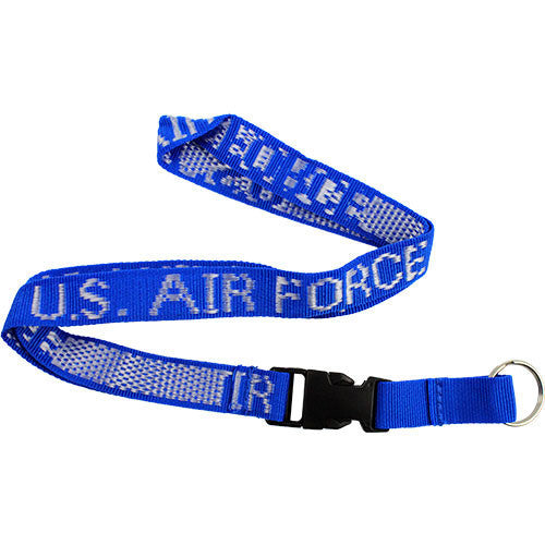 Air Force Key Lanyard - blue with U.S. Air Force in white letters