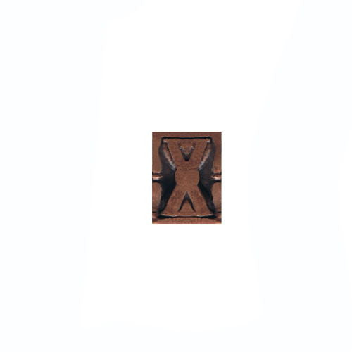 NO PRONG miniature Medal Attachment: Hourglass - bronze