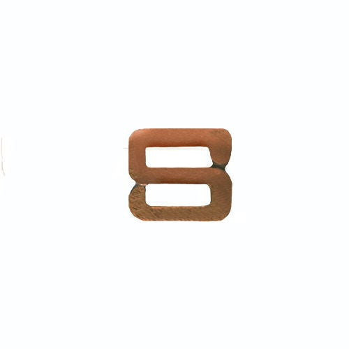 NO PRONG Ribbon Attachments: Letter S - bronze