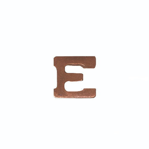 Ribbon Attachments: Letter E - bronze