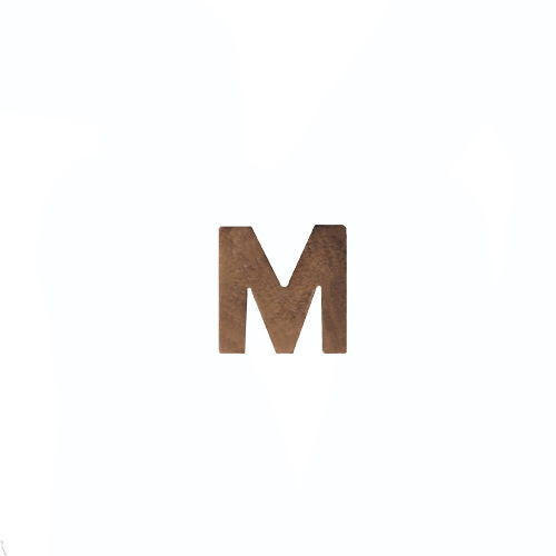 NO PRONG Ribbon Attachments: Letter M - bronze