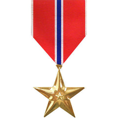 Full Size Medal: Bronze Star - 24k Gold Plated