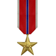 Miniature Medal- 24k Gold Plated: Bronze Star