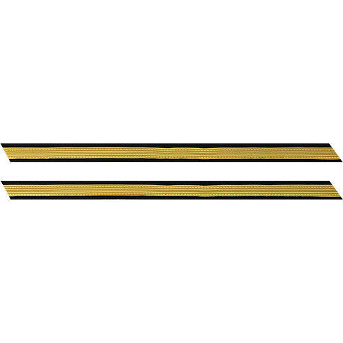 Army Service Stripe: Gold Embroidered on Blue - male, set of 1