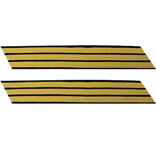 Army Service Stripe: Gold Embroidered on Blue - male, set of 3