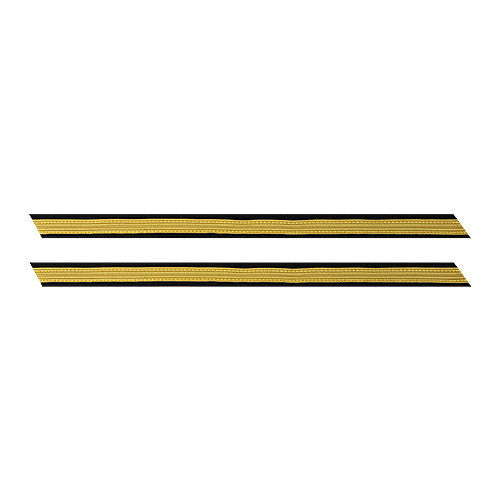 Army Service Stripe: Gold Embroidered on Blue - female, set of 1