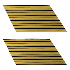 Army Service Stripe: Gold Embroidered on Blue - female, set of 10