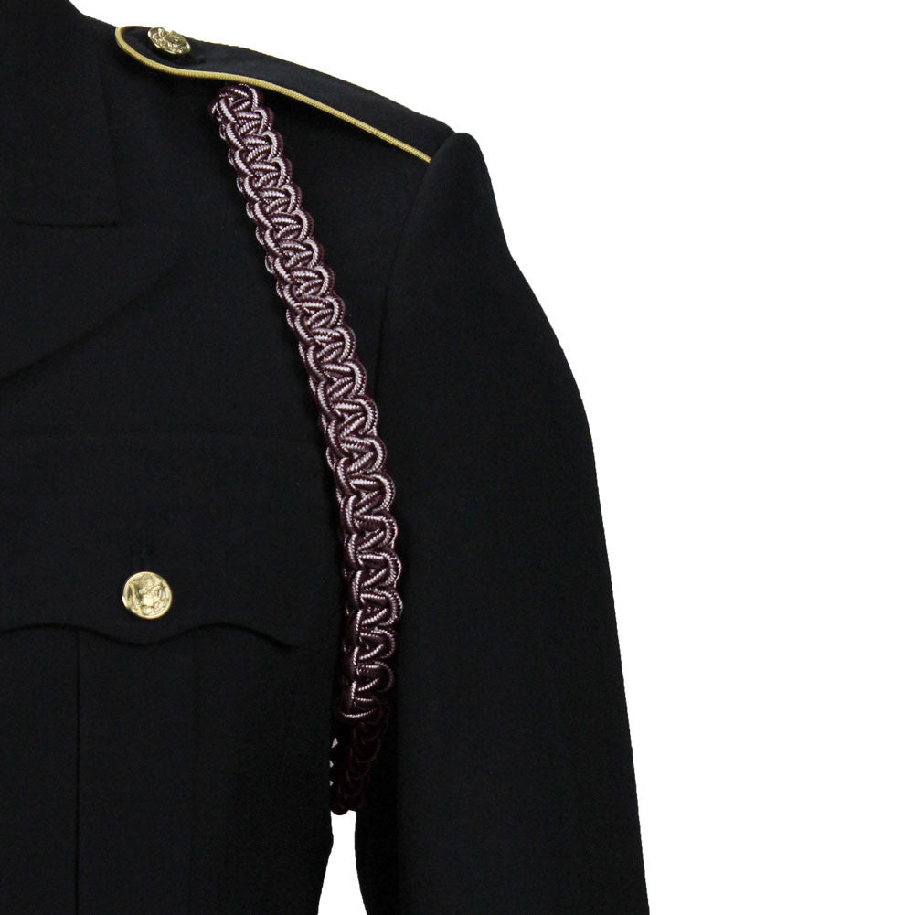 Army Shoulder Cord: Medical - maroon and white