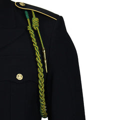 Army Fourragere (Lanyard): French WWII - green and gold with polish brass tip