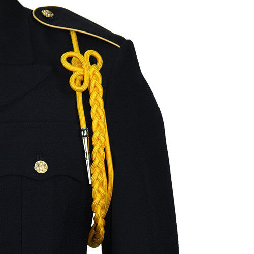 Army Shoulder Cord: 2720 Lite Gold Rayon with Silver Tip