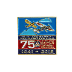 Civil Air Patrol Lapel Pin: 75TH Anniversary on blue background