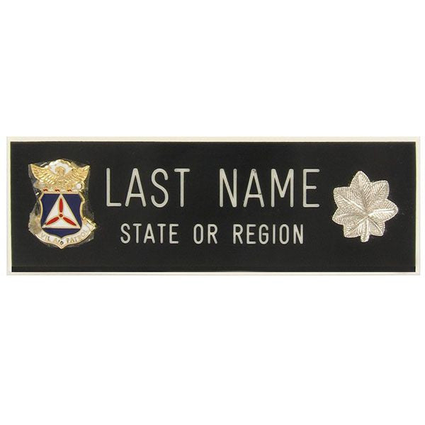 Civil Air Patrol Blazer Name Plate: Lieutenant Colonel