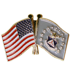 Civil Air Patrol Lapel Pin: US Flag with CAP Flag