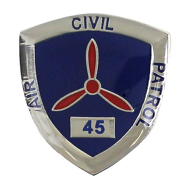 Civil Air Patrol:  Lapel Pin for 45 Years of Service