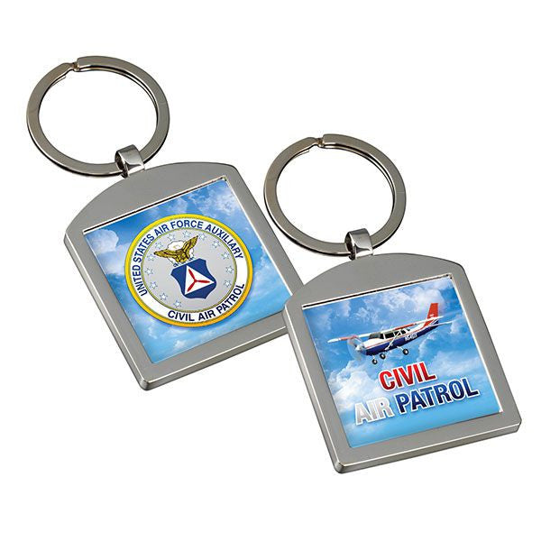 Civil Air Patrol Metal Key Ring with Seal & Cessna