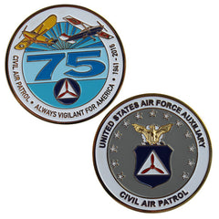 CAP- 75th Anniversary: Coin with Blue 75