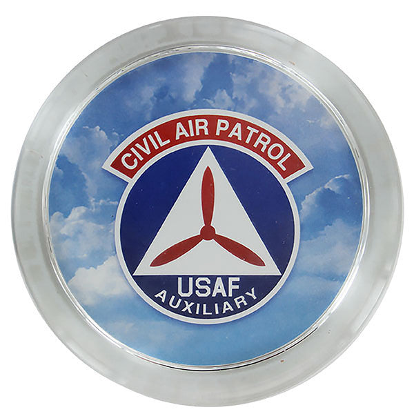 Civil Air Patrol Glass paperweight with imprinted Emblem